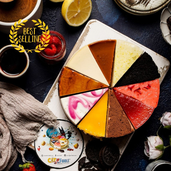 10 Flavor Assorted Cheesecake - Fickle Feline | Cat & the Fiddle Malaysia-Birthday-Cheesecake-Delivery