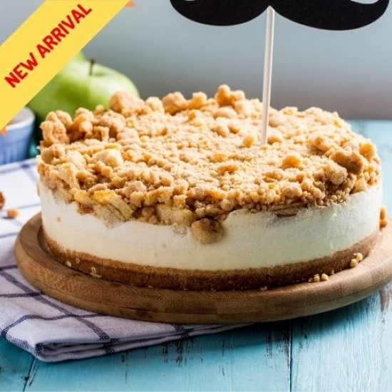 Apple Crumble Cheesecake | Best Apple Crumble Singapore | Cat & the Fiddle-Birthday-Cheesecake-Delivery