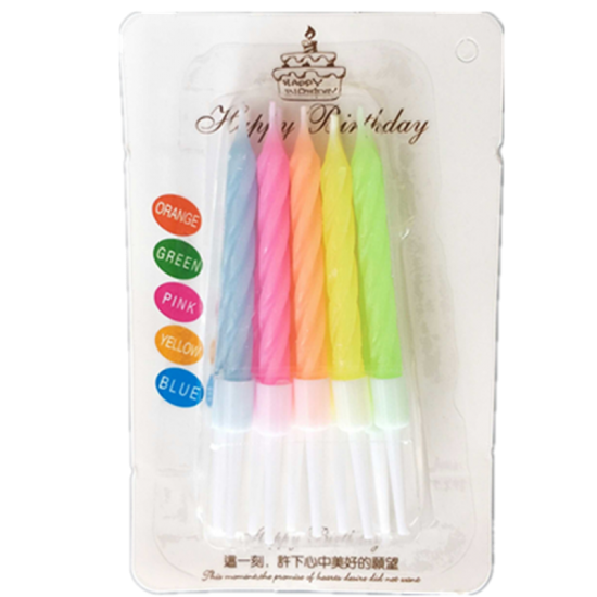 Colour Flame (10pcs) - Add on|Cat&theFiddle-Birthday-Cheesecake-Delivery