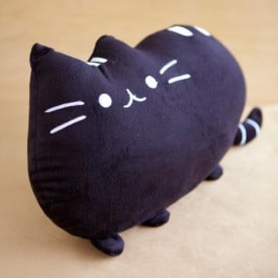 Cat Cushion (Black) -Birthday-Cheesecake-Delivery