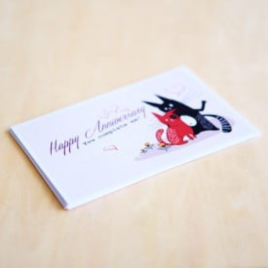 'Happy Anniversary!' Personalised Card | Cat & the Fiddle-Birthday-Cheesecake-Delivery