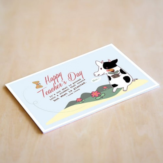 """Happy Teacher's Day"" Personalised Card 