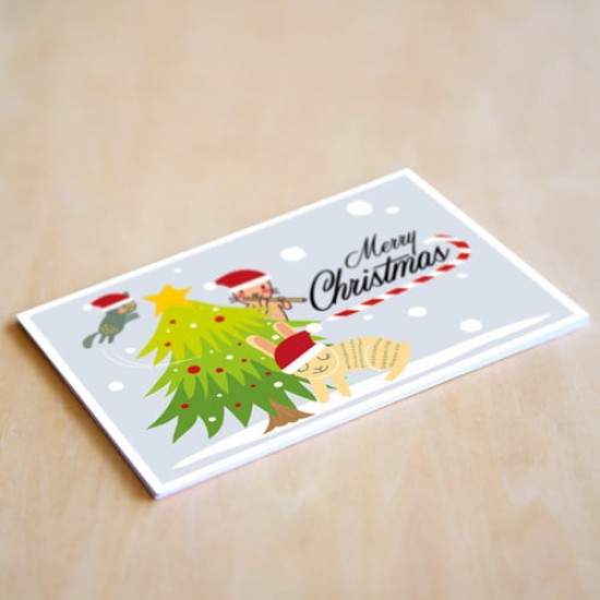 'Merry Christmas' Personalised Card | Cat & the Fiddle-Birthday-Cheesecake-Delivery