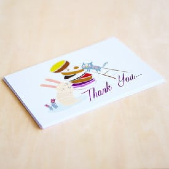 'Thank You' Personalised Card | Cat & the Fiddle-Birthday-Cheesecake-Delivery