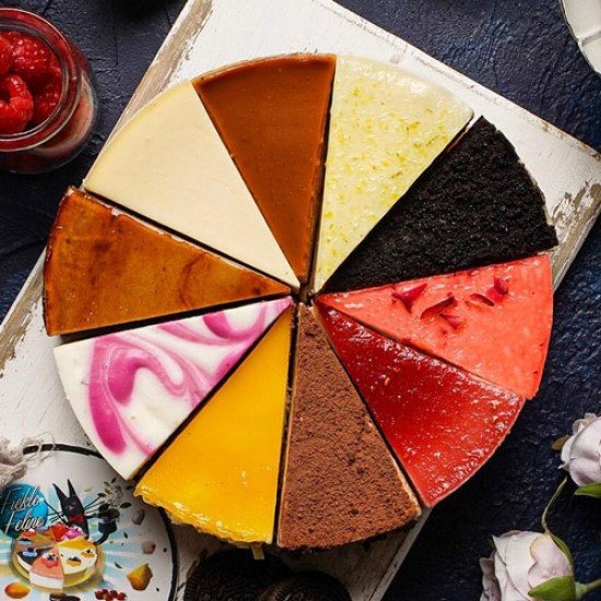 10 Flavor Assorted Cheesecake - Fickle Feline | Cat & the Fiddle-Birthday-Cheesecake-Delivery
