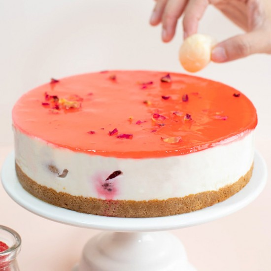 Lychee Cheesecake - Emperor's Romance | Cat & the Fiddle Malaysia-Birthday-Cheesecake-Delivery