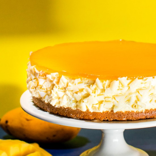 Mango Cheesecake - Russian Whiskers | Cat & the Fiddle-Birthday-Cheesecake-Delivery