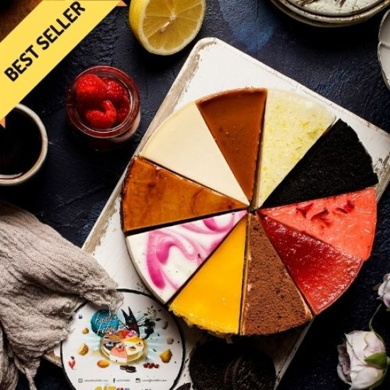10 Flavor Assorted Cheesecake - Fickle Feline   Cat & the Fiddle Malaysia-Birthday-Cheesecake-Delivery
